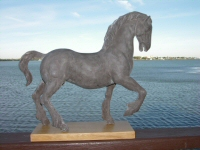 Clydesdale horse sculpture - click here for larger version and purchase details