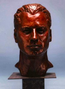 Bronze bust of Mr. John Travolta
