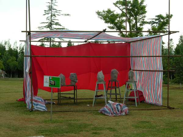 My new space - twice as large and high.... altogether it was a good thing the wind had blown down the first one!