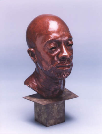 Isaac Hayes - Lifesize bronze side view