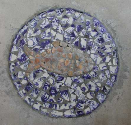 detail made of local Vietnamese ceramics and stones