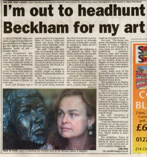 Article in East Grinstead Courrier, March 2003