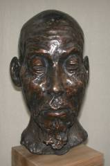 cold cast bronze bust of Chinese Feng Shui Master / Old Beggar - also available in bronze metal