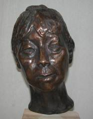 cold cast bronze bust of Chinese Immigrant Sculptor - also available in bronze metal