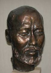 cold cast bronze bust of Chinese Sculptor - also available in bronze metal