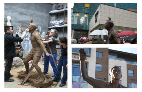 Click here to see images of Joey Maher outdoor sculpture in bronze in Drogheda, Ireland